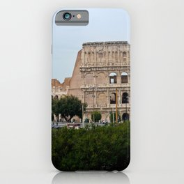 View to the Colosseum from the street, Rome, Italy iPhone Case