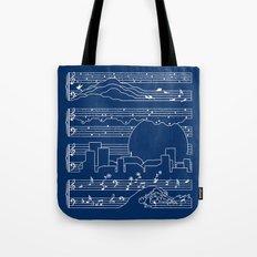 The Moonlight Sonata Blue Tote Bag