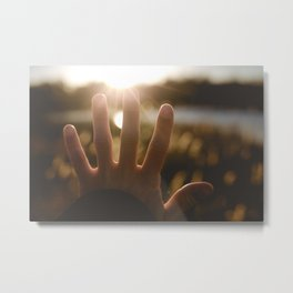 Motivation of the Day. || Reach for Your Dreams. || Sunny Days, Latvia. Metal Print