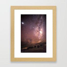 Milky Way Star Burst NZ Framed Art Print