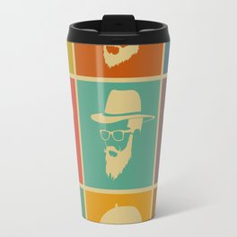 colorful Icons man in a headdress hat Travel Mug