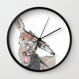Donkey Delight! Wall Clock
