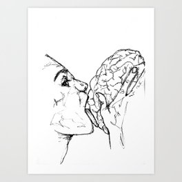 Brains Art Print