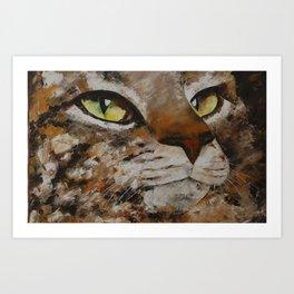Gato con dolor de cabeza Art Print