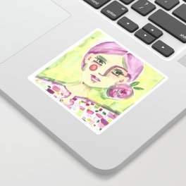 Lavender Lady Sticker