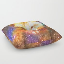 Cosmic wolf Floor Pillow