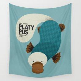Hello Platypus Wall Tapestry