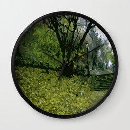 Budapest Green  Wall Clock