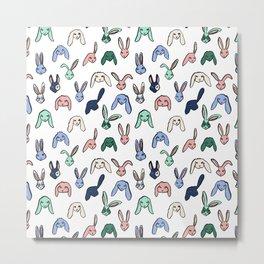 Pastel Bunnies Metal Print