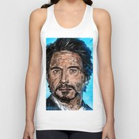 robert downey jr Tank Tops featuring RD JR by Balazs Pakozdi