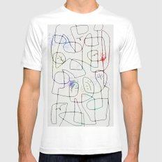 maze with trees MEDIUM Mens Fitted Tee White