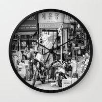 seoul Wall Clocks featuring Everyday Seoul by Jennifer Stinson