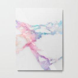 Unicorn Vein Marble Metal Print