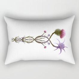 Scottish Thistle and Italian Cardo Rectangular Pillow
