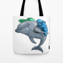 Dolphin Back to School Kids Pre-School Elementary Tote Bag