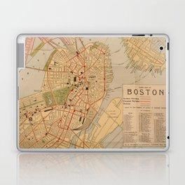 Vintage Map of Boston MA (1902) Laptop & iPad Skin