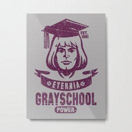 GraySchool Power! Metal Print