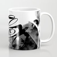 decal Mugs featuring fly away bw by haroulita