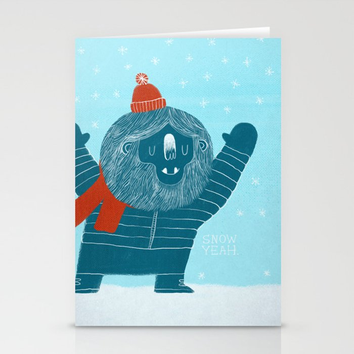 Snow Yeah Stationery Cards