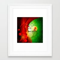 merry christmas Framed Art Prints featuring Merry christmas by nicky2342