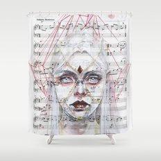 Queen of Diamonds on sheet music Shower Curtain