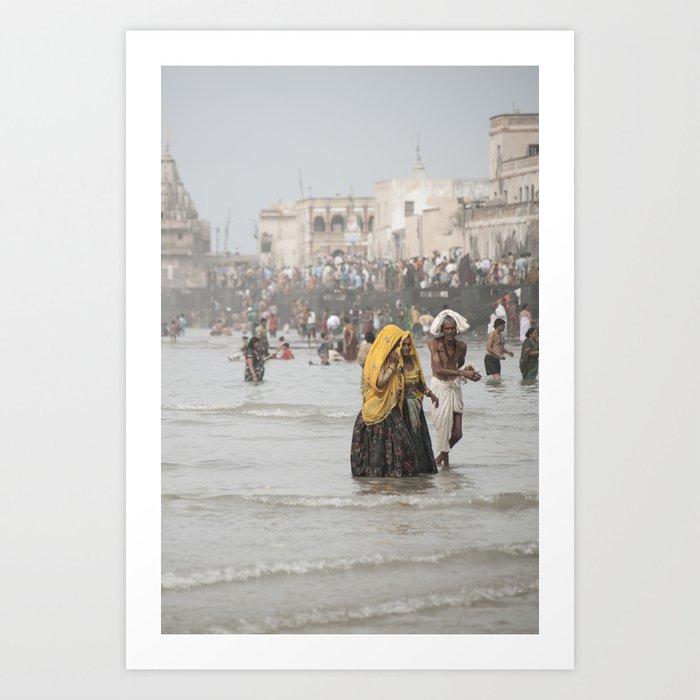 Dwarka Pilgrims Art Print