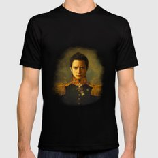 Elijah Wood - replaceface Mens Fitted Tee Black MEDIUM