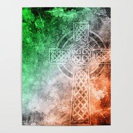 Irish Celtic Cross Poster