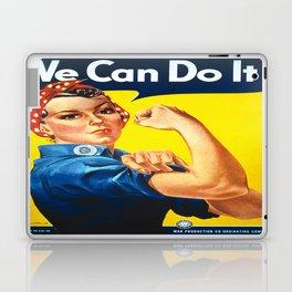 Vintage poster - Rosie the Riveter Laptop & iPad Skin