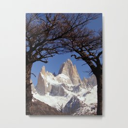 Fitz Roy Mountain Landscape (Patagonia, South America) Metal Print