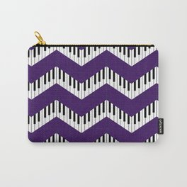 Chevron in the key of purple Carry-All Pouch