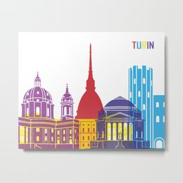 Turin skyline pop Metal Print