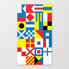 International Alphabetical Marine Signal Flags Canvas Print