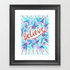 Believe! - Blue Framed Art Print