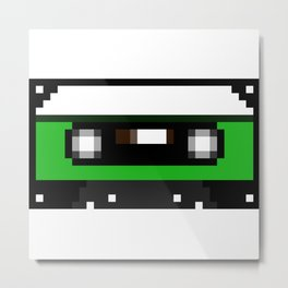 Green Cassette Metal Print