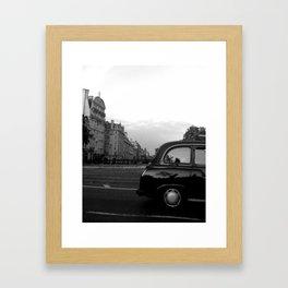 LONDON  BLACK CAB Framed Art Print