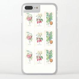 Vintage Botanical Fruit Clear iPhone Case