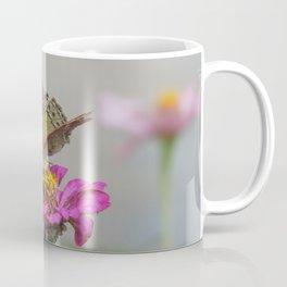 Butterfly on Pink Flower Coffee Mug