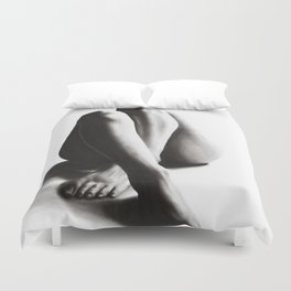 Nude Woman Charcoal Study 42 Duvet Cover