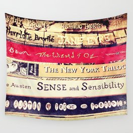 Classic Books Wall Tapestry