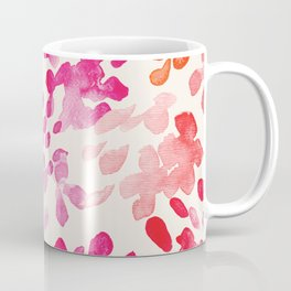 Watercolor flowers in pink and red pattern Coffee Mug