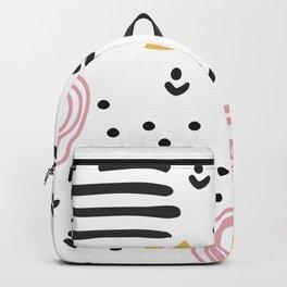 Abstract scandinvian art Backpack