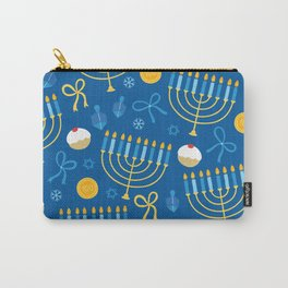 Hanukkah Menorah Pattern Carry-All Pouch