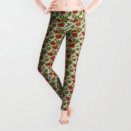 Poinsettia Pattern Leggings