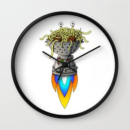 Pastafarian Flying Spaghetti Monster Rastafarian FSM Wall Clock