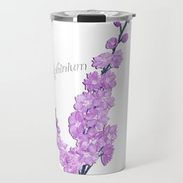 Delphinium Flowers Travel Mug
