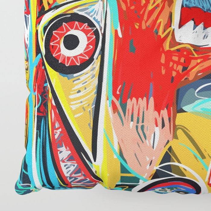 I'm hungry like a wolf Street Art Graffiti Floor Pillow