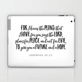 Jeremiah 29:11 - Bible Verse Laptop & iPad Skin
