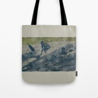 surf Tote Bags featuring Surf by Last Call