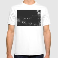 Venice Beach California VII White Mens Fitted Tee MEDIUM